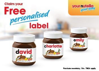 Claim your free personalised Nutella name label