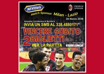 Con Esselunga puoi vincere 2 biglietti per la partita Milan-Lazio