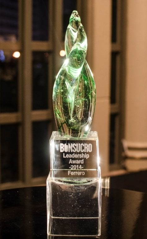 "FERRERO GROUP ZÍSKALA OCENĚNÍ ""BONSUCRO LEADERSHIP AWARD 2014"""