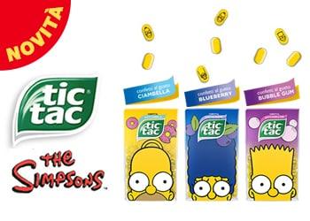 Tic Tac® edizione Simpson: tre gusti originali e sorprendenti