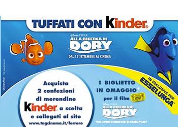Tuffati con Kinder ed Esselunga alla ricerca di Dory!