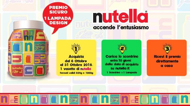 Lampada gratis con Nutella (scad. 31/10/2016)
