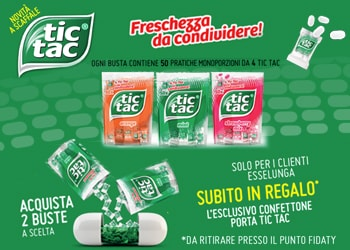 Con Tic Tac® in omaggio il portaconfetti da tavolo