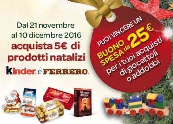 Vinci buoni spesa con Kinder e Ferrero
