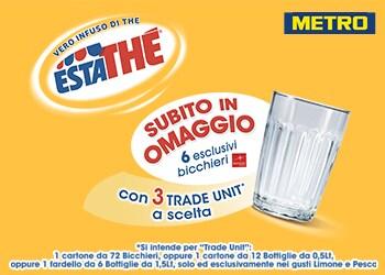 Estathé® Bicchieri per te 2017 - METRO (operazione a premio rivolta al trade)