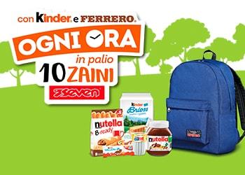 Con Kinder e Ferrero puoi vincere uno zaino Seven