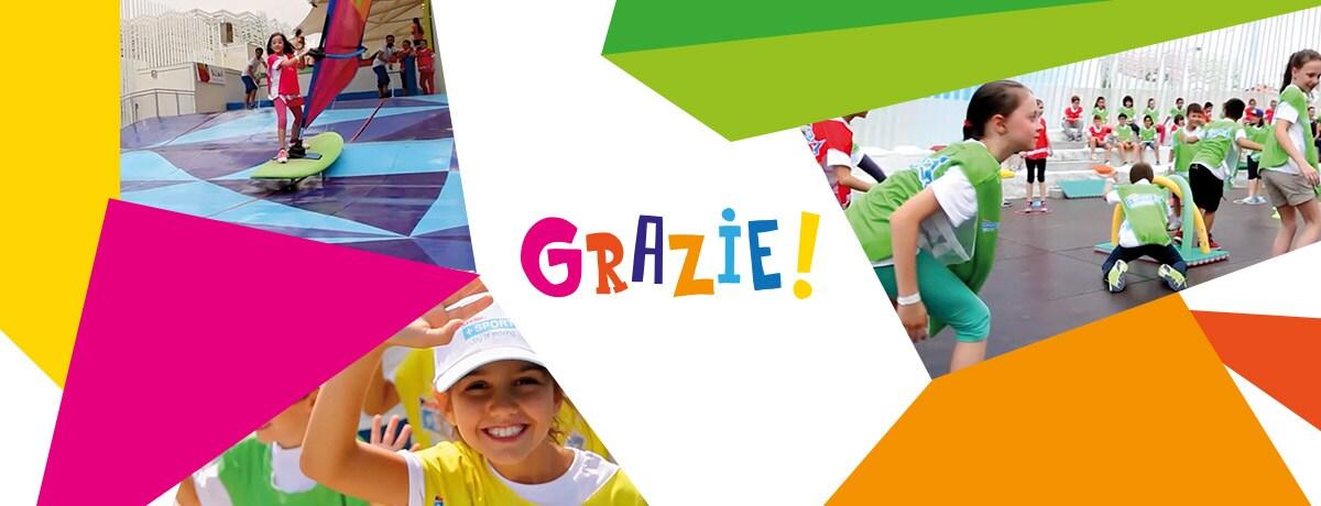 Grazie a tutti voi che avete reso indimenticabile l'avventura di Kinder+Sport ad Expo Milano 2015