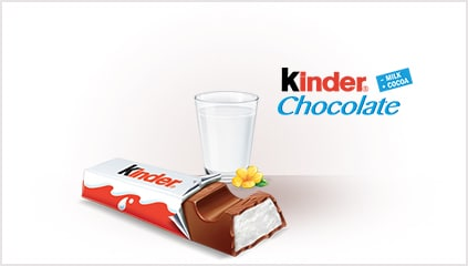 1968<br />Lancement de Kinder Chocolat