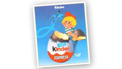 1985<br />Ferrero<sup>®</sup> aparece en mercado español con Kinder<sup>®</sup> Sorpresa<sup>®</sup> importado con un distribuidor local.