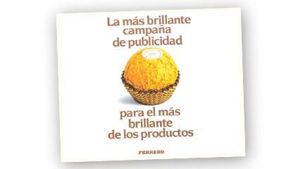 1989<br />Ferrero Rocher llega al mercado de los bombones. El éxito es extraordinario.