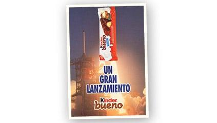 1994<br />Kinder Bueno conquista rápidamente a los consumidores españoles.