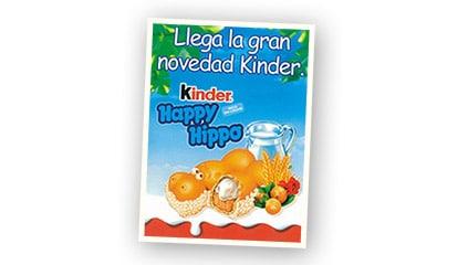 2002<br />Lanzamiento de Kinder Happy Hippo, otra novedad de la gama Kinder<sup>®</sup>.