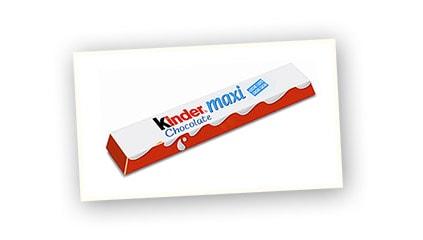 2004<br />Lanzamiento de Kinder<sup>®</sup> Chocolate Maxi, toda la bondad y la virtud de Kinder<sup>®</sup> Chocolate en un formato