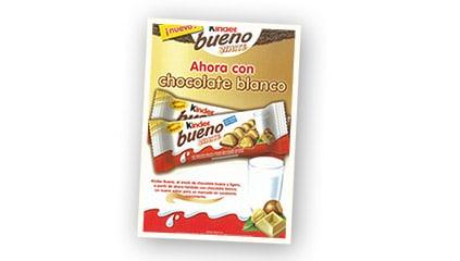 2006<br />Lanzamiento de Kinder Bueno White para seguir disfrutando del exquisito placer de Kinder Bueno también en verano.
