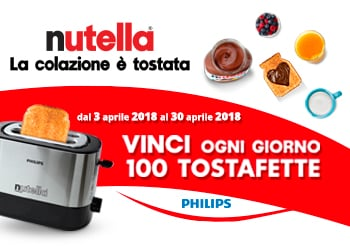 Con Nutella® vinci il Tostafette Philips