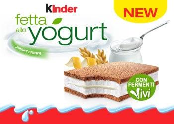 Kinder Fetta allo Yogurt, la novità tra i Freschi Kinder