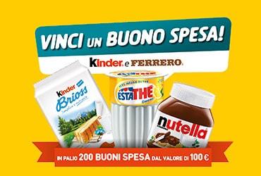 Con Kinder e Ferrero vinci un buono spesa da 100 euro (concorso rivolto al trade)