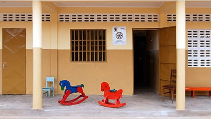 The new school block at the Cité Verte kindergarten