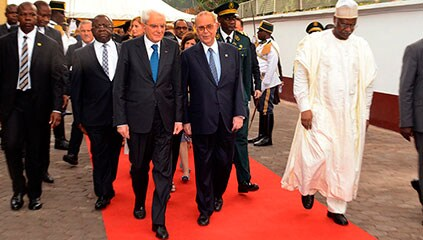 Visit of President of the Republic of Italy, Sergio Mattarella, to the Ferrero plant in Yaoundé