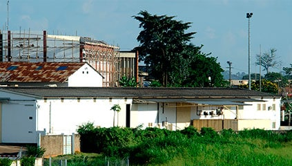 Exterior of the Ferrero plant in Yaoundé
