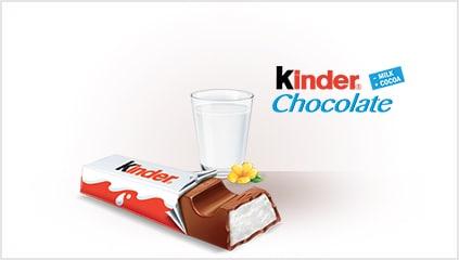 1968<br />Na rynku pojawia się Kinder Czekolada
