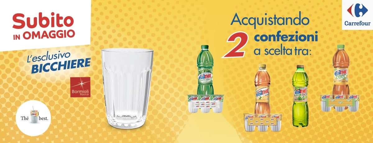 Bicchieri Estathé® per te - 2018 - Carrefour