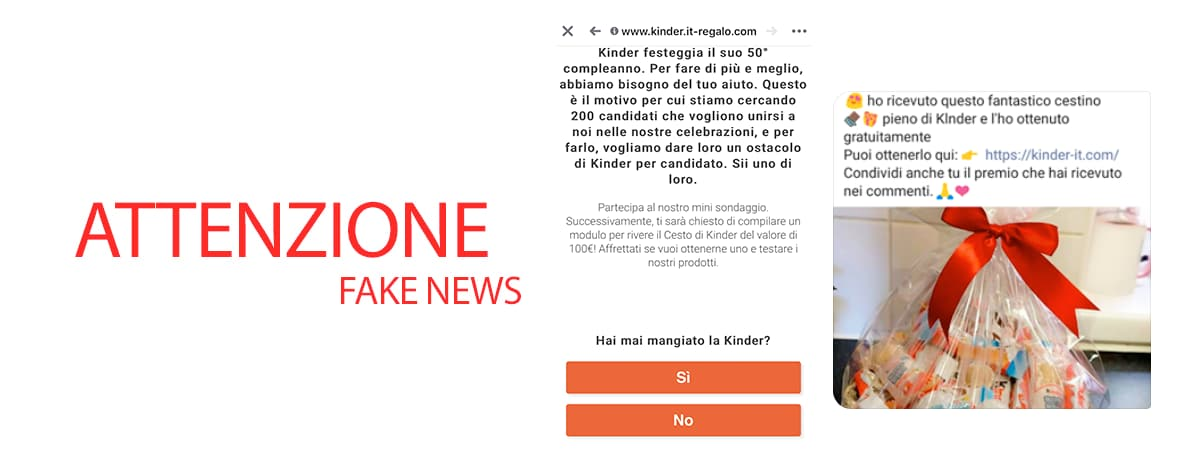 ATTENZIONE!!! Fake News Kinder
