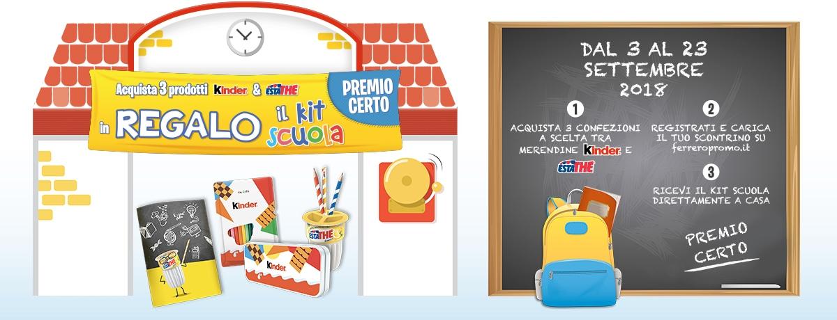 Kinder e Ferrero ti regalano il Kit Scuola