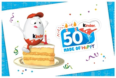 Per i primi 50 anni di Kinder, una festa mondiale!