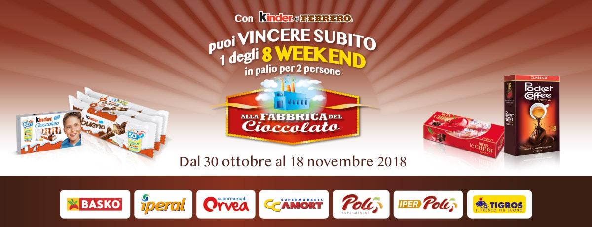 Vinci un weekend alla Fabbrica Del Cioccolato con Agorà - 2018