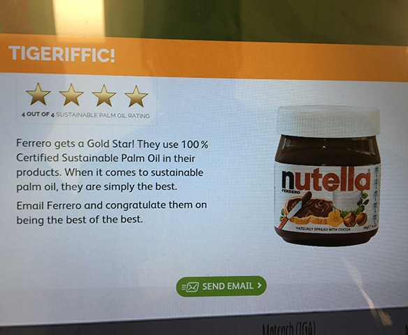 TARONGA ZOO CHAMPIONS SUSTAINABLE PALM OIL AND CONGRATULATES FERRERO FOR ITS COMMITMENTS