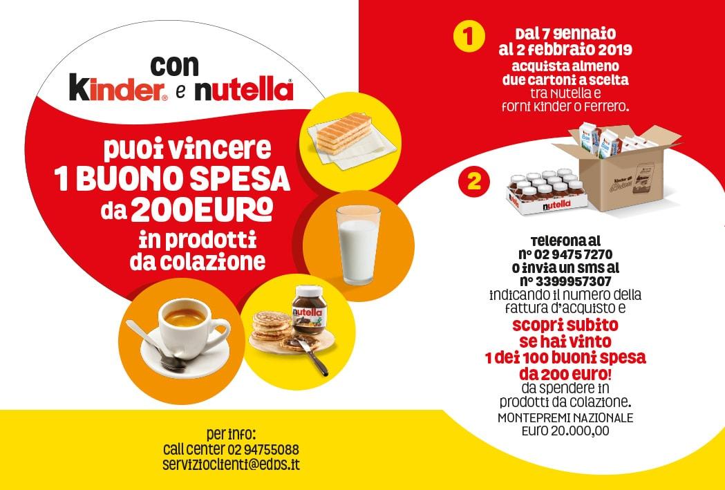 Fai colazione con i forni Kinder e Ferrero e Nutella (concorso a premio rivolto al trade)