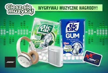 Ciesz się muzyką! Loteria Tic Tac ® i Tic Tac GUM ®