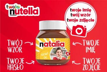 Twoja Nutella® - stwórz 2 własne etykiety gratis!