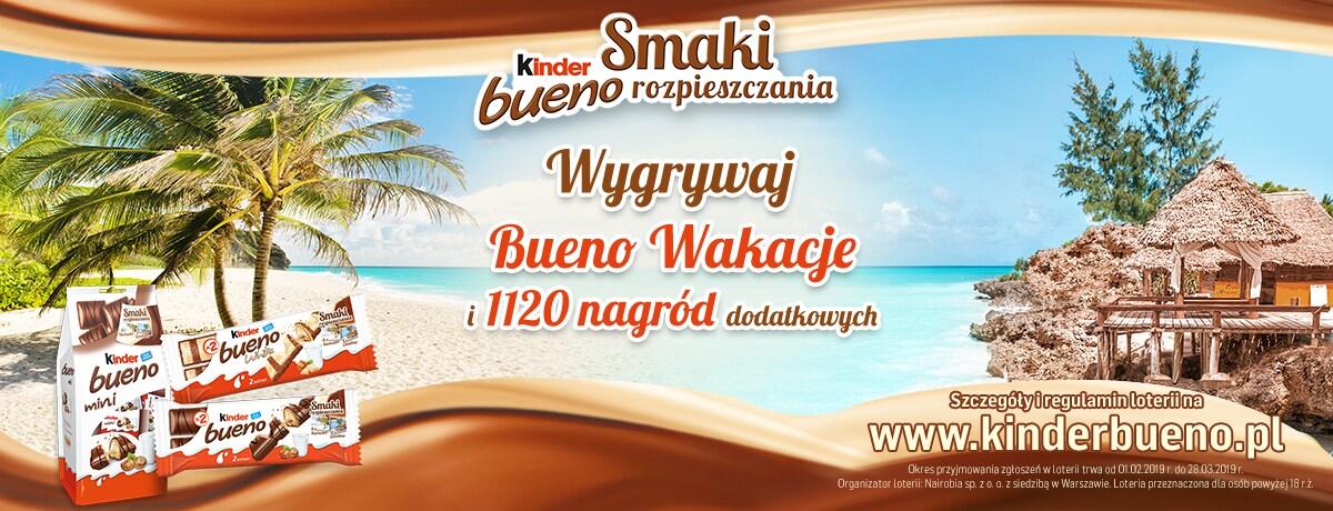 Nowa loteria Kinder Bueno Smaki Rozpieszczania!