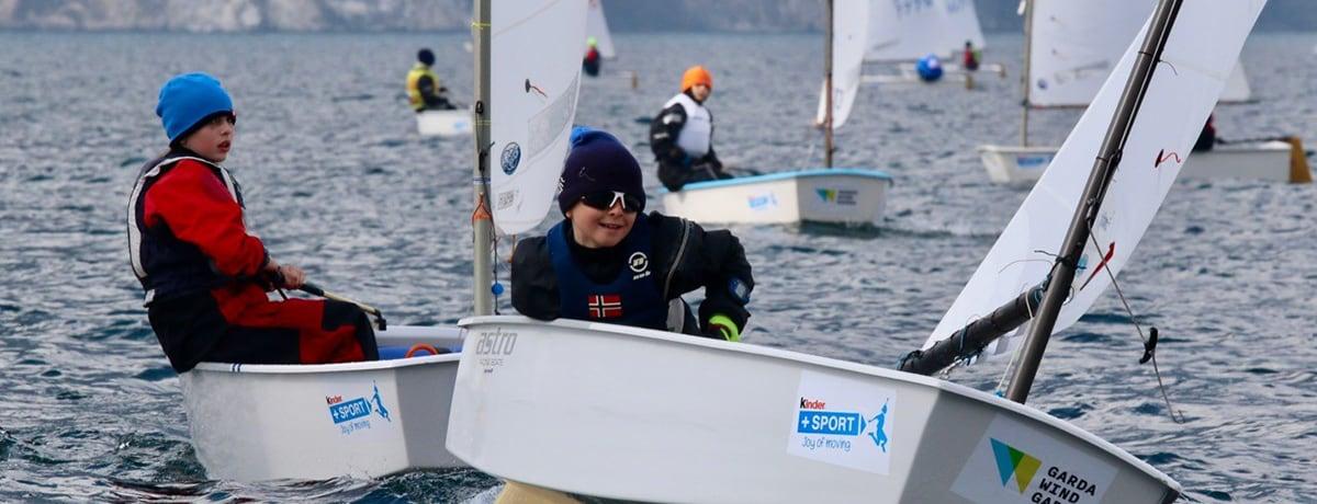 Kinder + Sport  al 37° Meeting del Garda Optimist