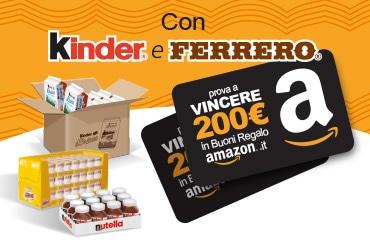 Kinder e Ferrero ti regalano i buoni Amazon