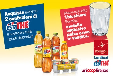 Bicchieri Estathé per te – Unicoop Firenze