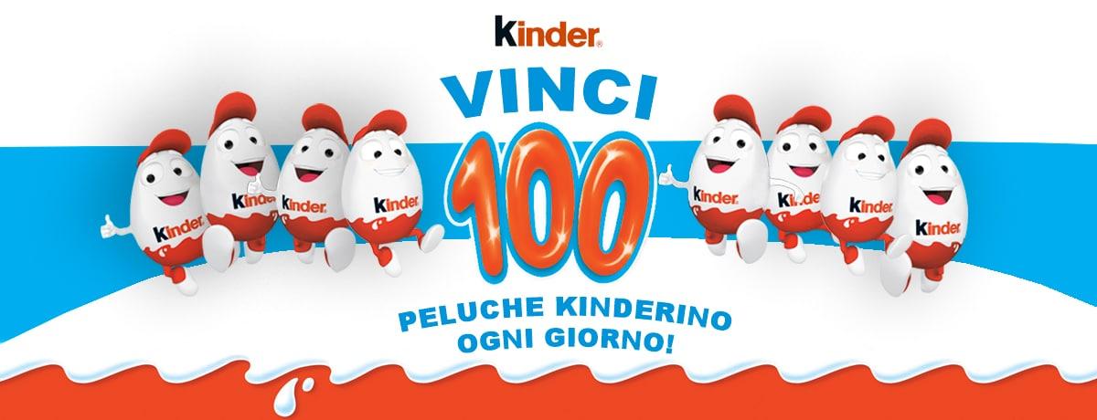 Vinci 100 peluche Kinderino al giorno