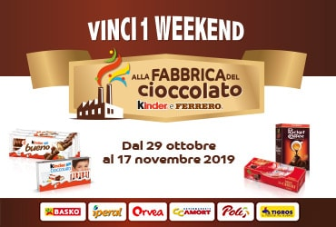 Vinci un weekend alla Fabbrica del Cioccolato - Agorà 2019
