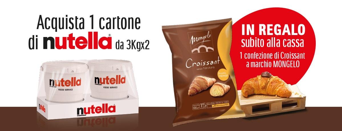 Nutella ti regala una confezione di Croissant Mongelo