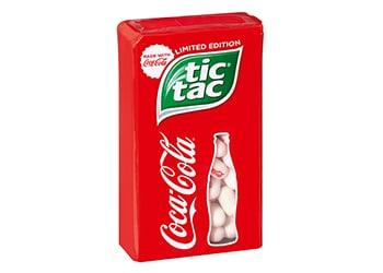 Zwei Ikonen treffen aufeinander: Tic Tac® meets Coca-Cola®