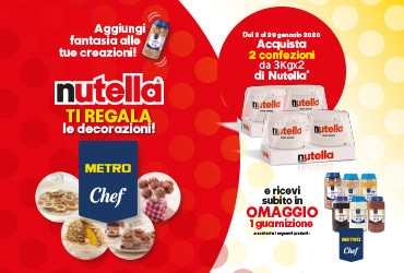 Nutella ti regala le decorazioni