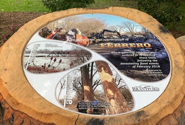 City Commemorates Ferrero Canada Donation of $100,000 to Restore Flood-Damaged Trails in Brantford