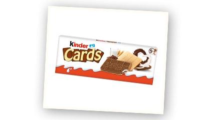 2020<br />Se lanza la primera galleta de Ferrero, Kinder Cards.