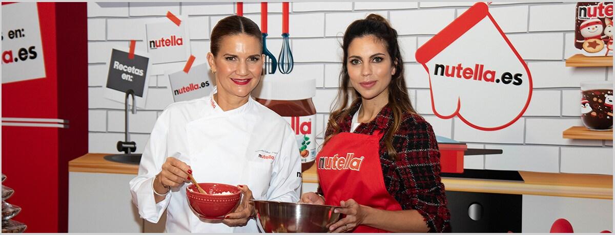 Samantha Vallejo-Nágera y Melissa Jiménez preparan la Navidad cocinando las recetas de Nutella