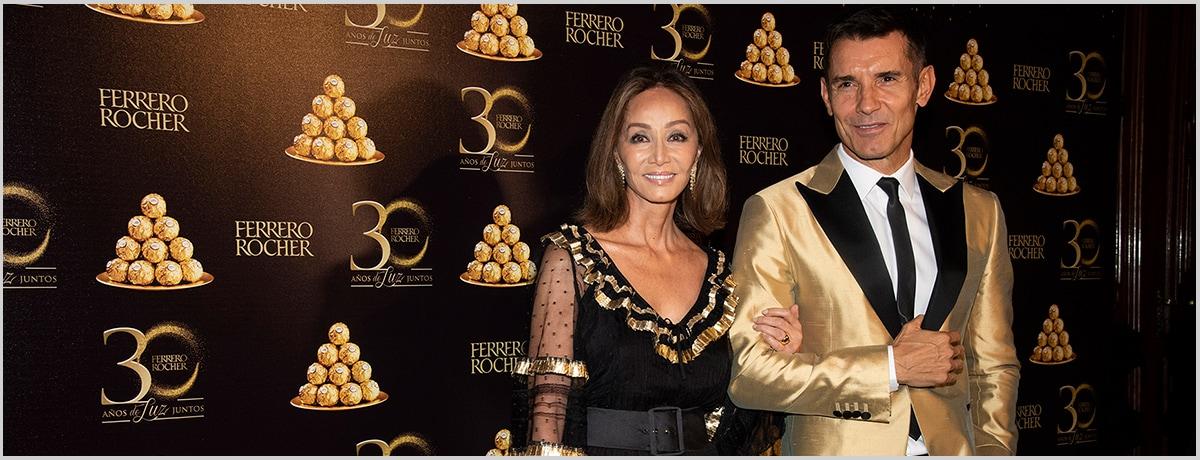 Isabel Preysler y Jesús Vázquez, protagonistas del 30 aniversario de Ferrero Rocher en España