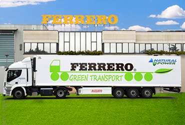 "Ferrero ""Green Transport"" per ridurre le emissioni di CO2"