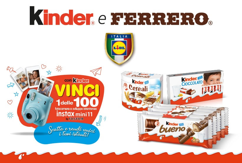 Con Ferrero e Lidl puoi vincere una fotocamera a sviluppo istantaneo