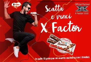 Vinci X Factor con Kinder Bueno